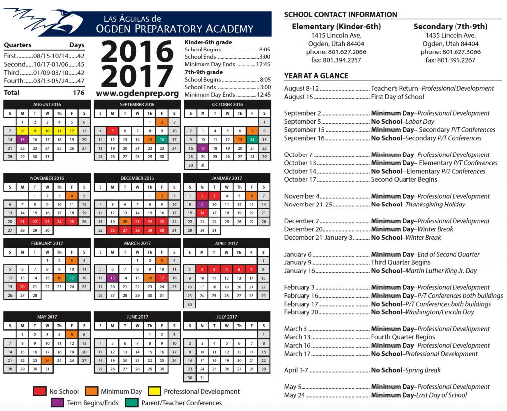 2016-2017 calendar image