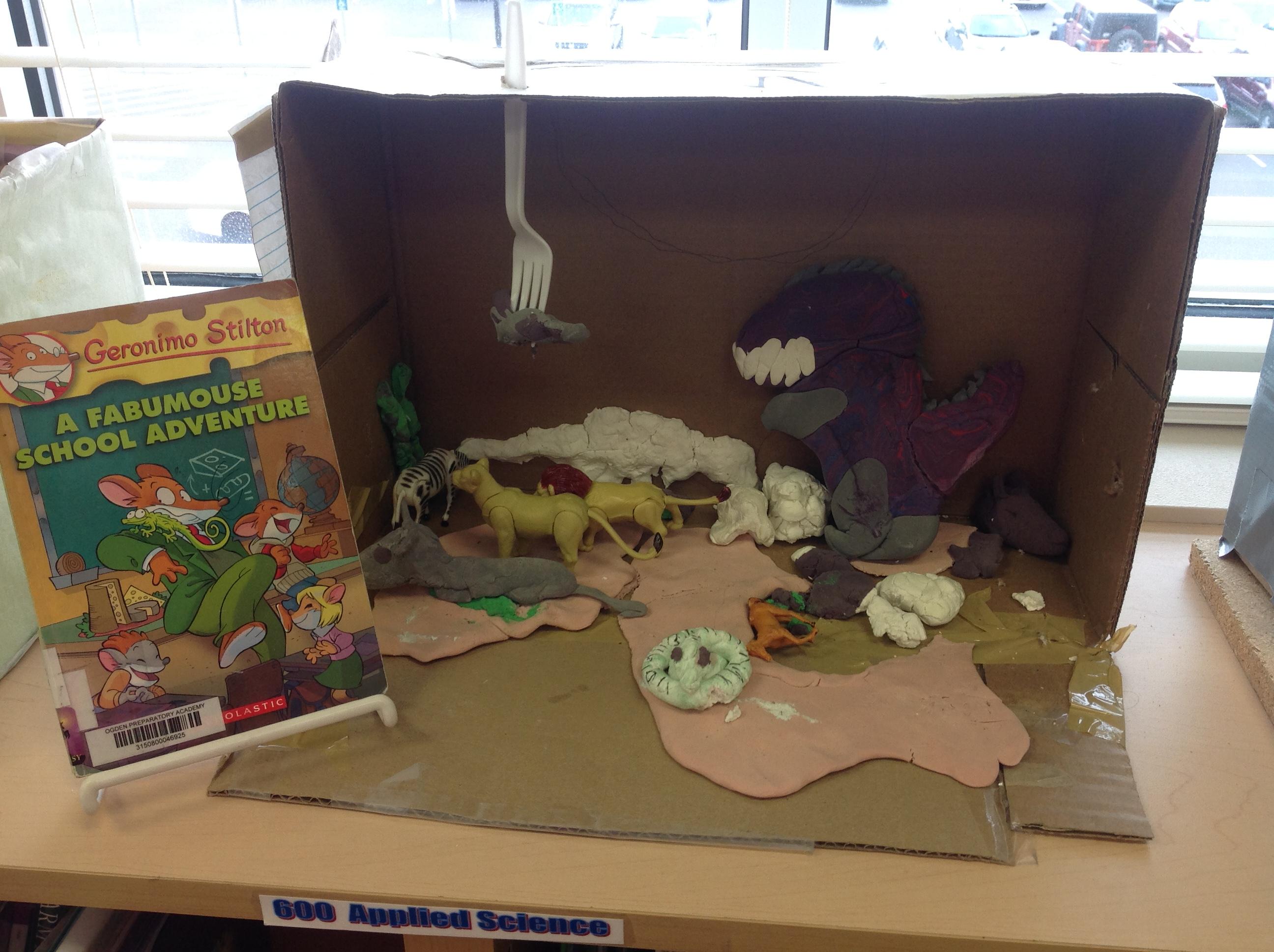 how to make a diorama grade 5 book report
