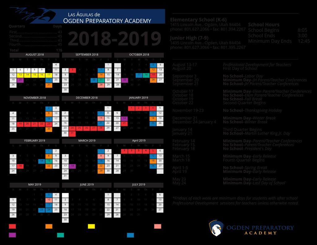 calendars ogden preparatory academy